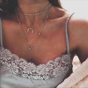 Jewelry - 🆕 Layered Crescent Necklace